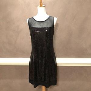 The Limited Black Sequin Knee Length Party Dress M